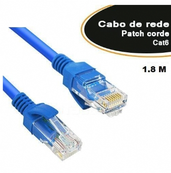 Cabo Patch Cord ** Categoria 6 ** 1,8 Metros - (Cod. 35527-6)