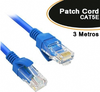 Cabo Patch Cord CAT5E * 3 Metros *  - (Cod. 35611-0)