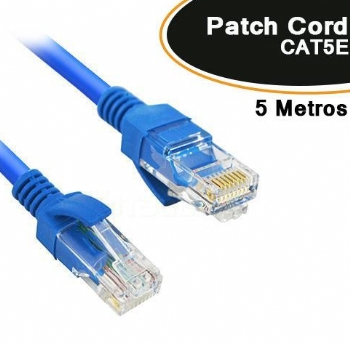 Cabo Patch Cord CAT5E * 5 Metros *  - (Cod. 35612-3)
