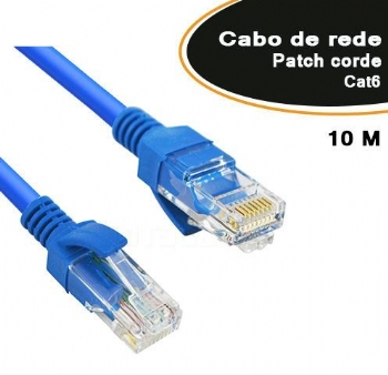 Cabo Patch Cord Cat6e * 10 Metros * - (Cod. 35615-2)