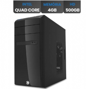Computador Intel Quad Core 2,5 Ghz J4105 com 4GB, HD 500 - (Cod. 36085-0NPD)