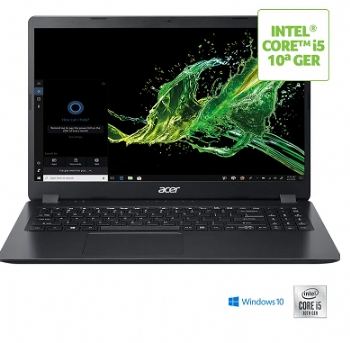"Notebook Acer Aspire Intel Core i5 10ª Geração, 8 Gb, HD 1TB, Tela 15.6"", Bluetooth e Windows 10 Original - (Cod. 36876)"