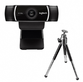Câmera Webcam Logitech C922 PRO Full HD 1080p USB com Mini Tripé de 18,5cm - (Cod. 36048-1)