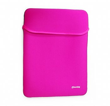 Case / Bolsa / Luva p/ Notebook / Netbook / Tablet * 2 FACES * até 10'' NOTESHIP * Rosa / Cinza* (Cod. 31089-7)
