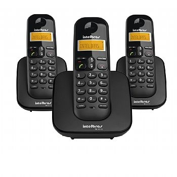 Telefone Sem Fio TS 3113 (Mini Central) 1 Base + 2 Ramais - (Cod. 31752-8)