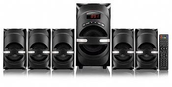 Home Theater MULTILASER 5.1 Canais / FM / USB * 170 W RMS - (Cod. 31855-6)