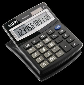 Calculadora de Mesa Elgin * MV-4124 * 12 dígitos<BR>(Cod. 31915-7)
