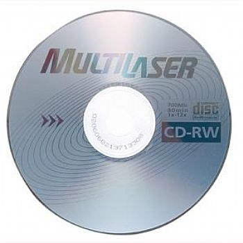 CDR-W Re-Gravável Multilaser CD037 (vem com Envelope de Papel) * 700 Mb * 12X (Cod. 32073-5)