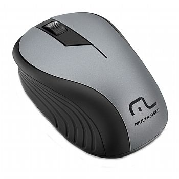Mouse Sem Fio USB 2.4 Ghz / 1200 Dpi / Wireless MULTILASER MO213 -  (Cod. 32373-2)