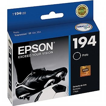 Cartucho de Tinta EPSON T194120 / XP104 , XP204 / 4 ml / Original * Preto * (104 / XP204 / 194) (Cod. 32488-3)