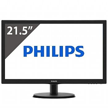Monitor de Vídeo Philips LED 21,5'' com HDMI e VGA  - (Cod. 32812-2NPD5)