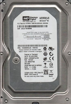 HD Sata 250 Gb - Western Digital * 3.5 / 7200 RPM * (Cod. 33519-9)