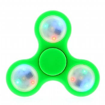Fidget Hand Spinner * METAL com LED * Verde (Cod. 33764-7) - * Serve como Amenizador da Ansiedade e do Stress *