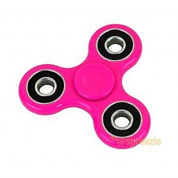 Fidget Hand Spinner * Plástico ABS * Rosa (Cod. 33818-3) - * Serve como Amenizador da Ansiedade e do Stress *