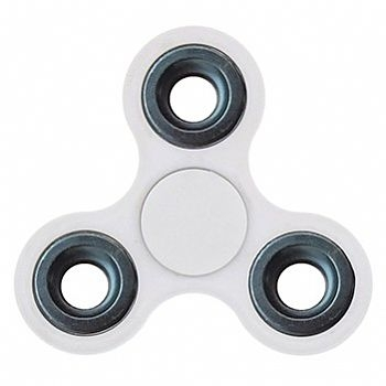 Fidget Hand Spinner * Plastico ABS * Branco (Cod. 33820-6) - * Serve como Amenizador da Ansiedade e do Stress *