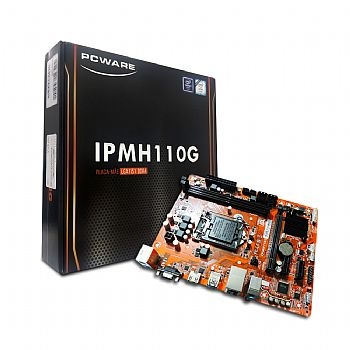 Placa Mãe PCWARE IPMH1410G (Core i7 / i5 / i3 / Pentium / Celeron) Chipset Intel / Som / Rede / Video VGA/ Sata / DDR4 / Pci-E / USB 3.0) Socket: 1151 (Cod. 34331-4)
