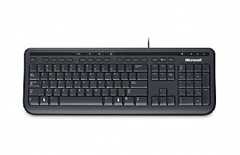 Teclado MICROSOFT * USB * WIRED KEYBOARD 600 Multimídia *PRETO* (Cod. 26907-4)