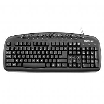 Teclado Super Multimídia USB MULTILASER *PRETO* TC081 (Cod. 28366-5)