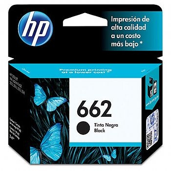 Cartucho de Tinta HP 662 preto Original CZ103AB 2 ml - (Cod. 29860-5)