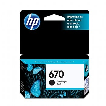 Cartucho Original HP 670 * PRETO * CZ113AB Deskjet (Ink Advantage 3525 / 4615 / 4625 / 5525) (Cod. 29929-3)