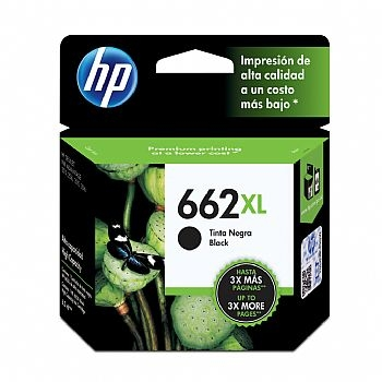 Cartucho de Tinta HP 662 xl preto Original CZ105AB-XL (Deskjet Ink Advantage 2515 / 2516 / 3515 / 3516) (Cod. 29938-7)