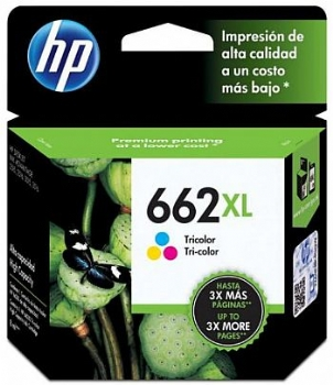 Cartucho de Tinta HP 662 XL Original Colorido CZ106ABXL (Deskjet Ink Advantage 2515 / 3515) (Cod. 29931-6)