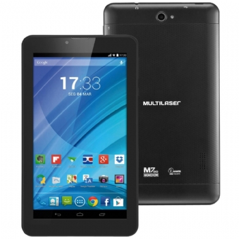 Tablet Multilaser M7 com 3G / Tela 7'' / 8 Gb / Quad Core 1.3 Ghz / Bluetooth - (Cod. 32976-5)