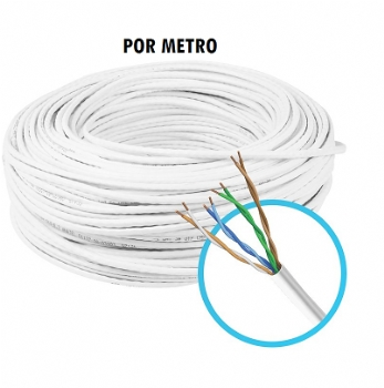 Cabo de Rede / Internet / CFTV ** HOOPSON ** Branco / 4 pares / Categoria Cat5e / por Metro - (Cod. 36257-3)