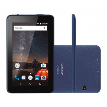 Tablet Multilaser M7S Plus Dark Blue Tela 7'' com 8 Gb / Memória RAM 1Gb / Quad Core 1.3 Ghz / Câmera - (Cod. 35635-6)