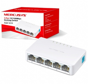 Hub Switch Roteador 5 portas 10/100 Mbps * Mercusys MS105 * - (Cod. 35933-7)