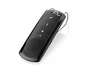 Viva-voz Automotivo para Celular, Tablet, Iphone (via Bluetooth) c/ Bateria e adaptador veicular 12v (Cod. 30163-1)