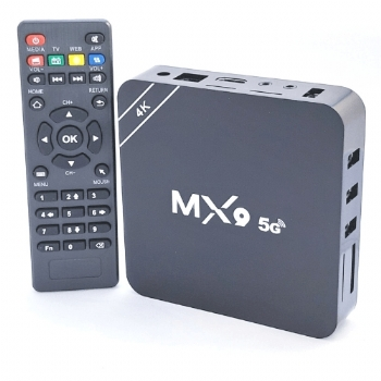 Smart Tv Box MX9 5G 4k com 32 Gb de Armazenamento e 4 Gb Ram / Android 10.1 * Conecta sua TV na Internet(Cod. 37216NPD)